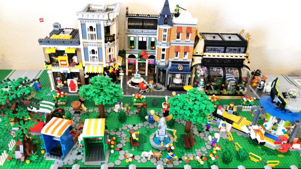 BenBricks LEGO Stadt Die Häuserzeile mit dem 10255 Stadtleben