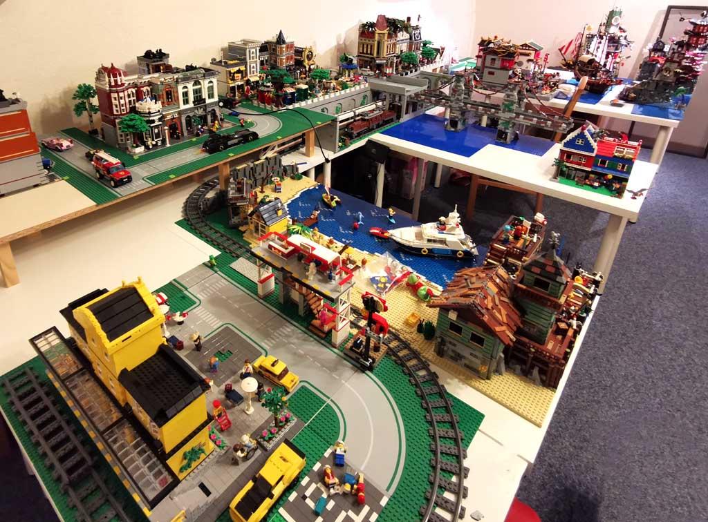 Das gesamte Layout von BenBricks LEGO Stadt