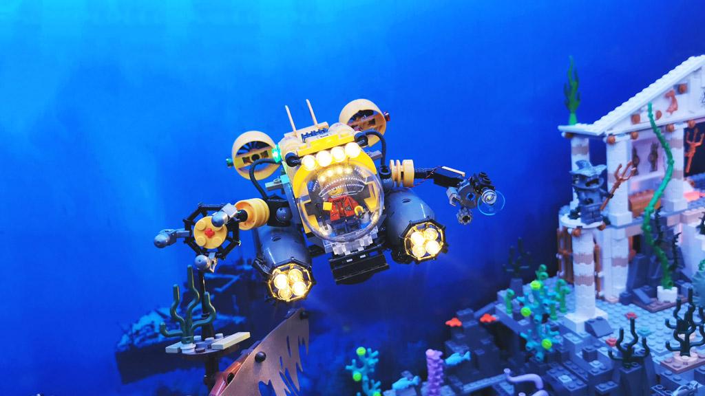 BenBricks Unterwasserwelt mit dem beleuchteten LEGO City 60092 Tiefsee U-boot