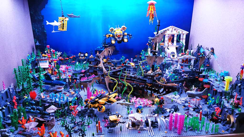 BenBricks Unterwasserwelt MOC in der Vollansicht