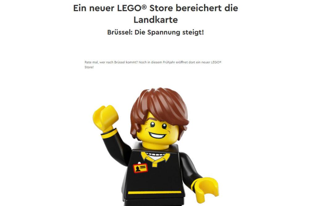 Erster LEGO Store in Brüssel