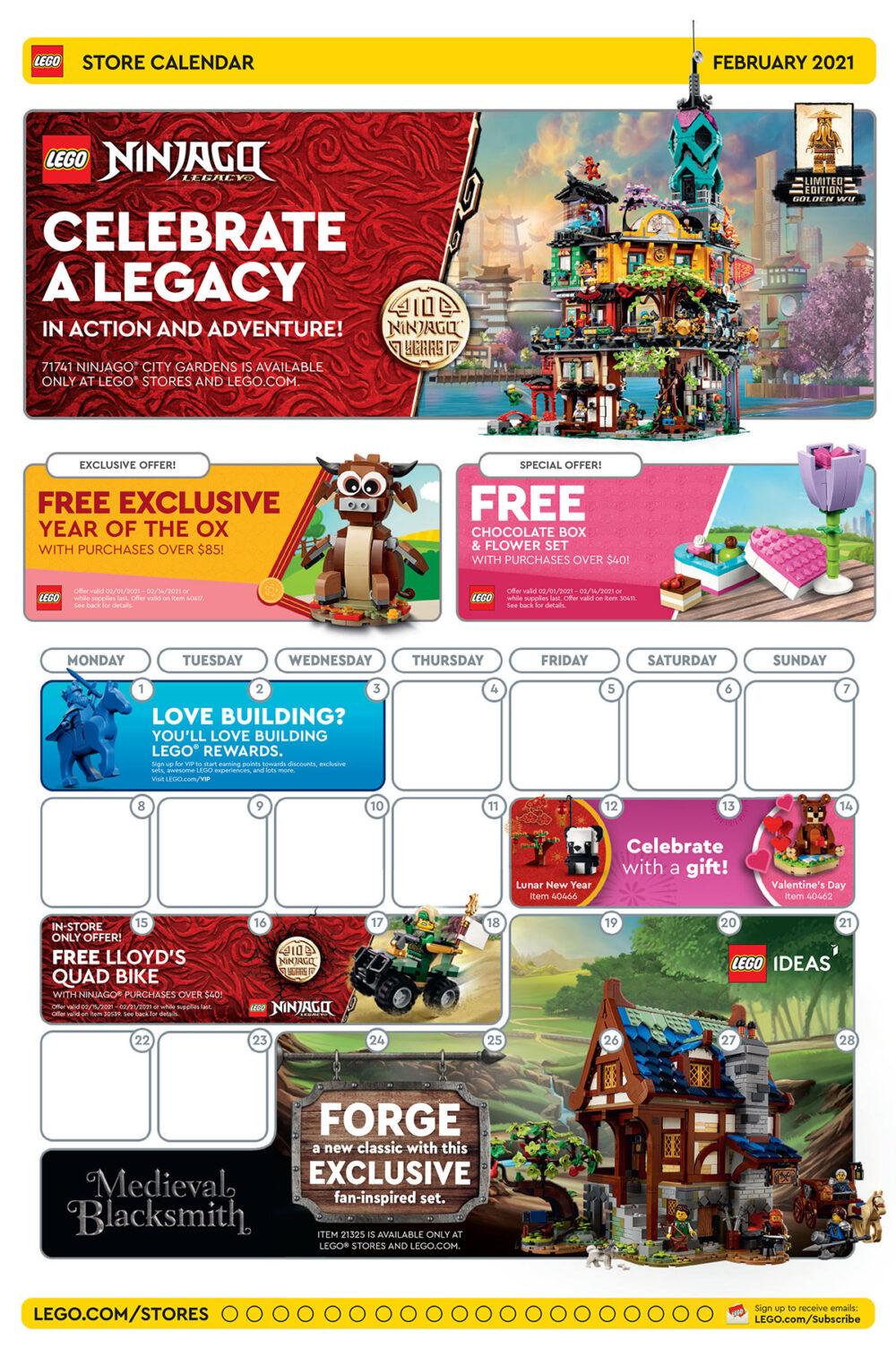 LEGO Store Aktionen in den USA: Februar 2021