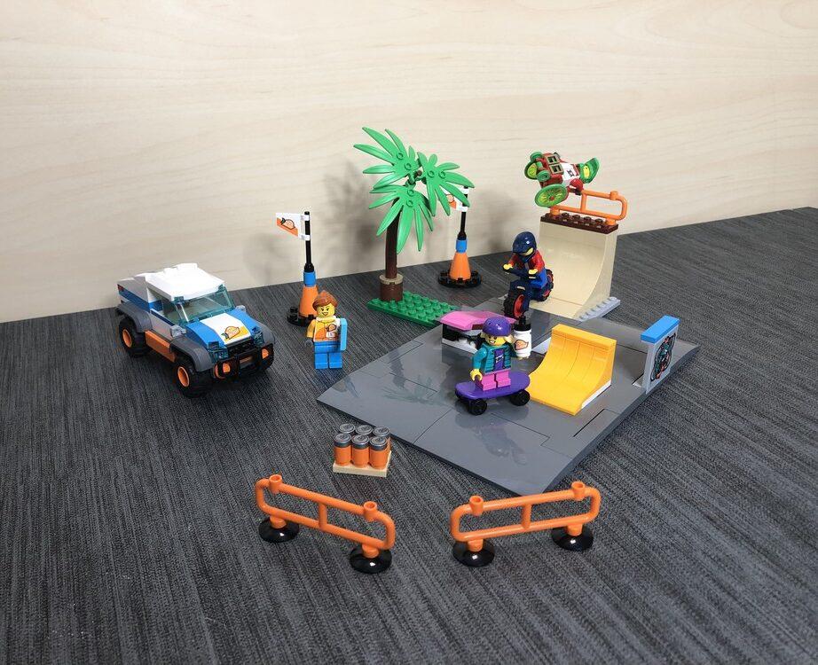 LEGO City 60290 Skatepark alle LEGO Steine zusammengebaut