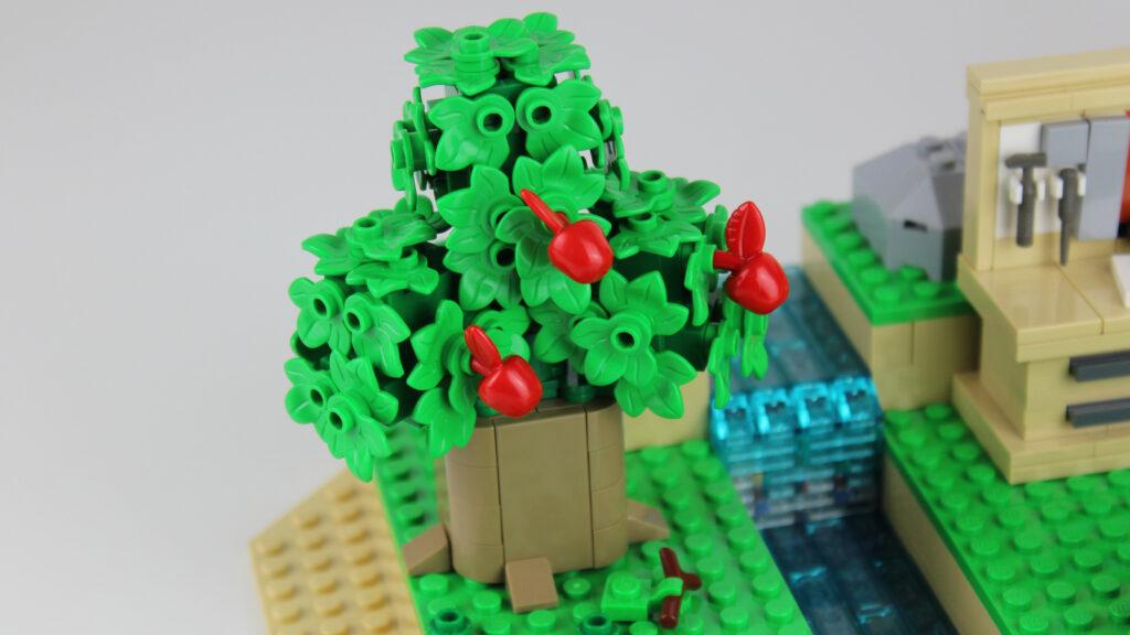 LEGO Animal Crossing Apfelbaum neben Wasserfall