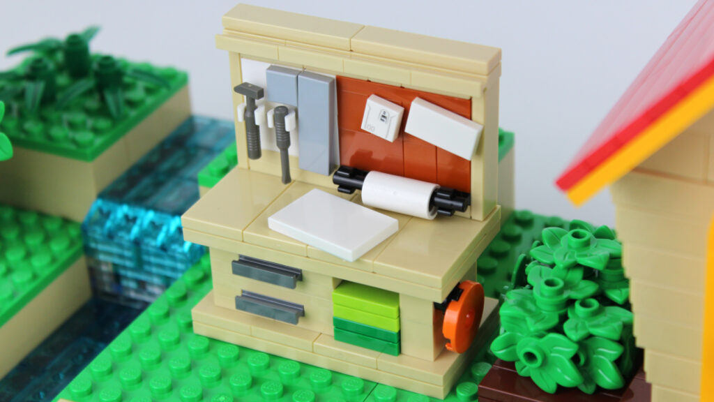 LEGO Animal Crossing New Horizons Werkbank