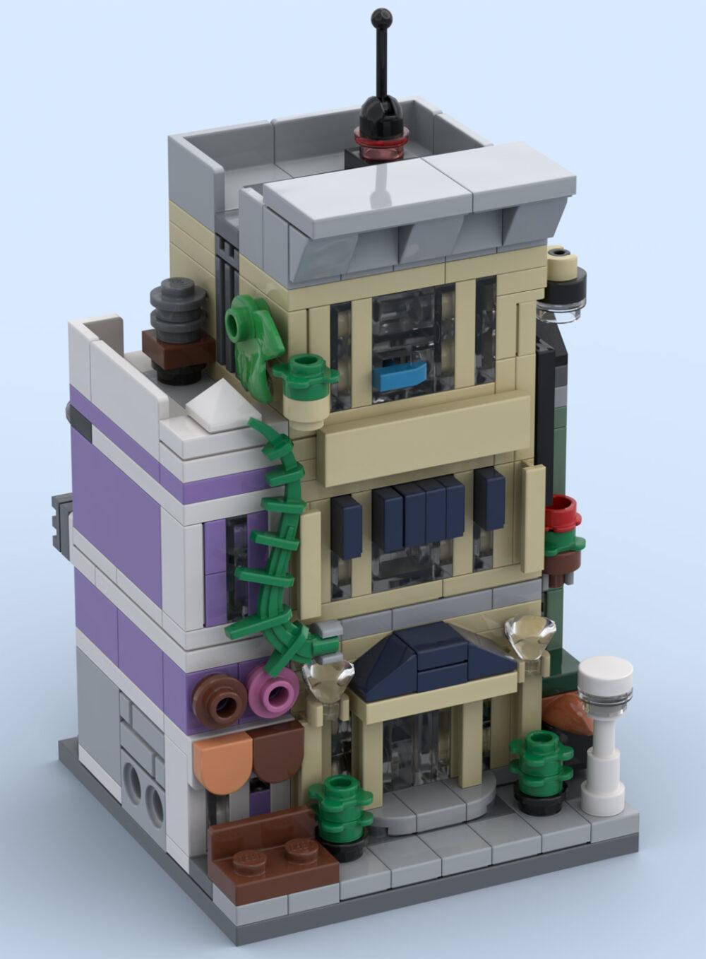 Geschrumpfte LEGO Polizeistation