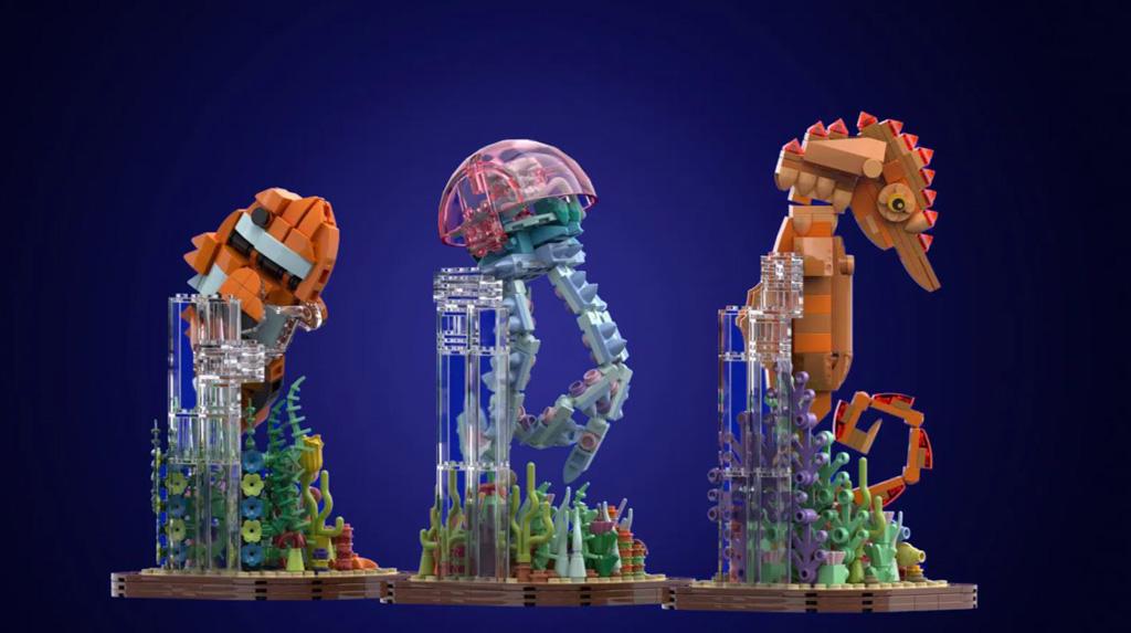 LEGO Ideas Marine Life von Brick Dangerous die Modelle, die Modelle sind mit Teilen der Kuppel verbunden