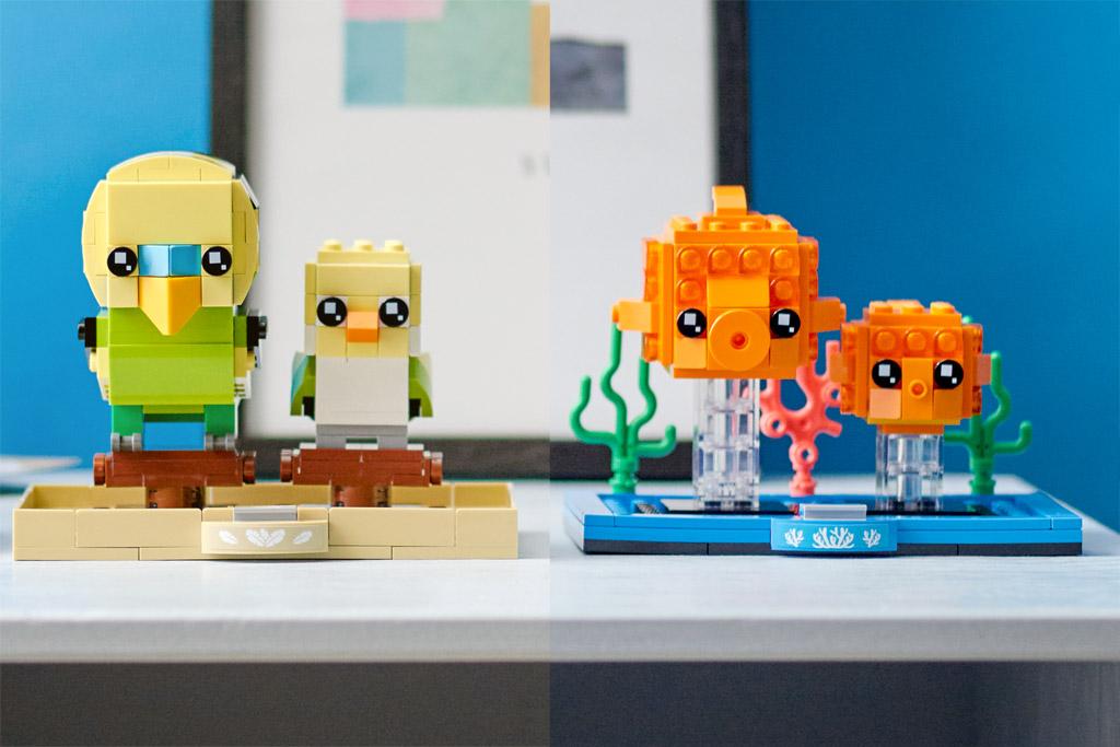 LEGO BrickHeadz 40442 Goldfisch 40443 Wellensittich