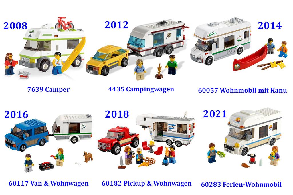 Die LEGO City Camper in der Übersicht