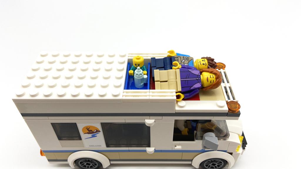 Das LEGO City 60283 Ferien-Wohnmobil, Der Schlafplatz