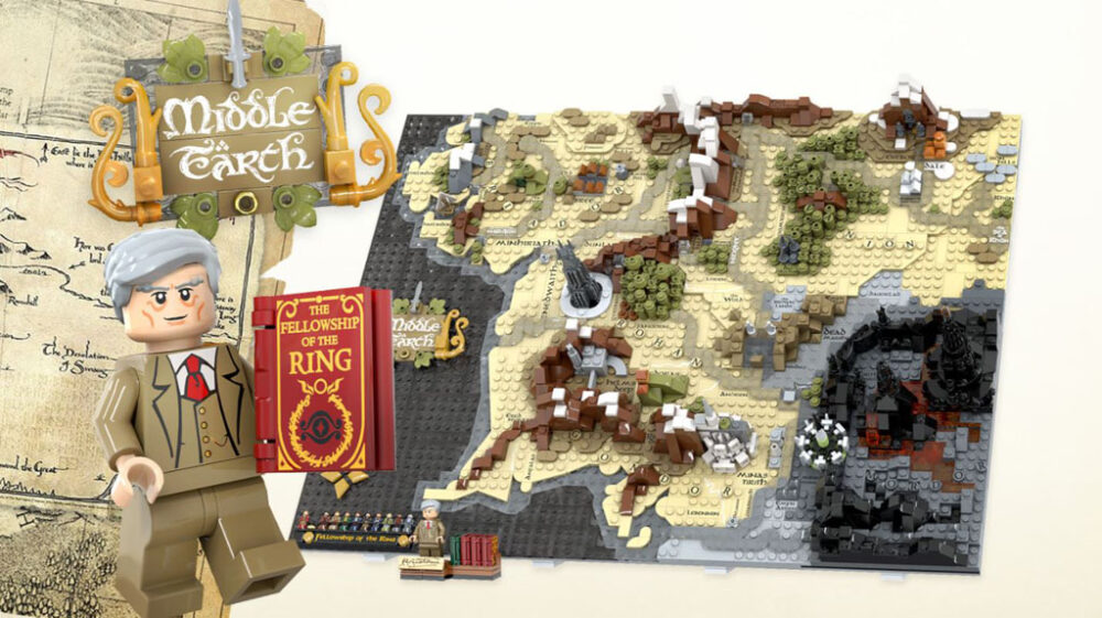 LEGO Ideas Entwurf Map of Middle-Earth von Artem Biziaev