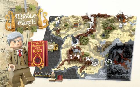 LEGO Ideas Entwurf Map of Middle-Earth von Artem Biziaev