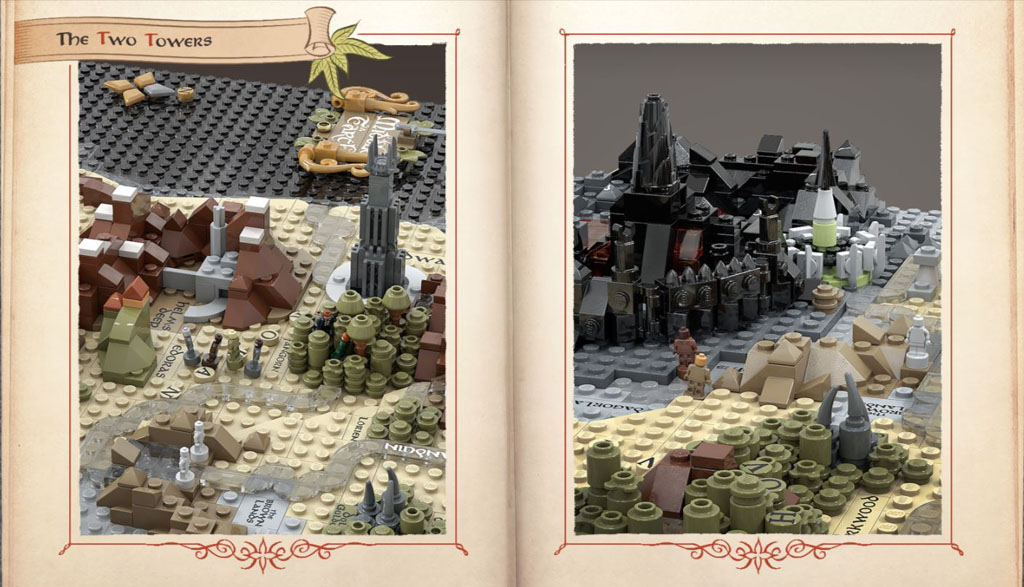 LEGO Ideas Entwurf Map of Middle-Earth von Artem Biziaev Die Karte