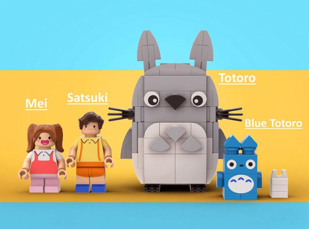 LEGO Ideas My LEGO Totoro Entwurf von legotruman Die Minifiguren und Totoro