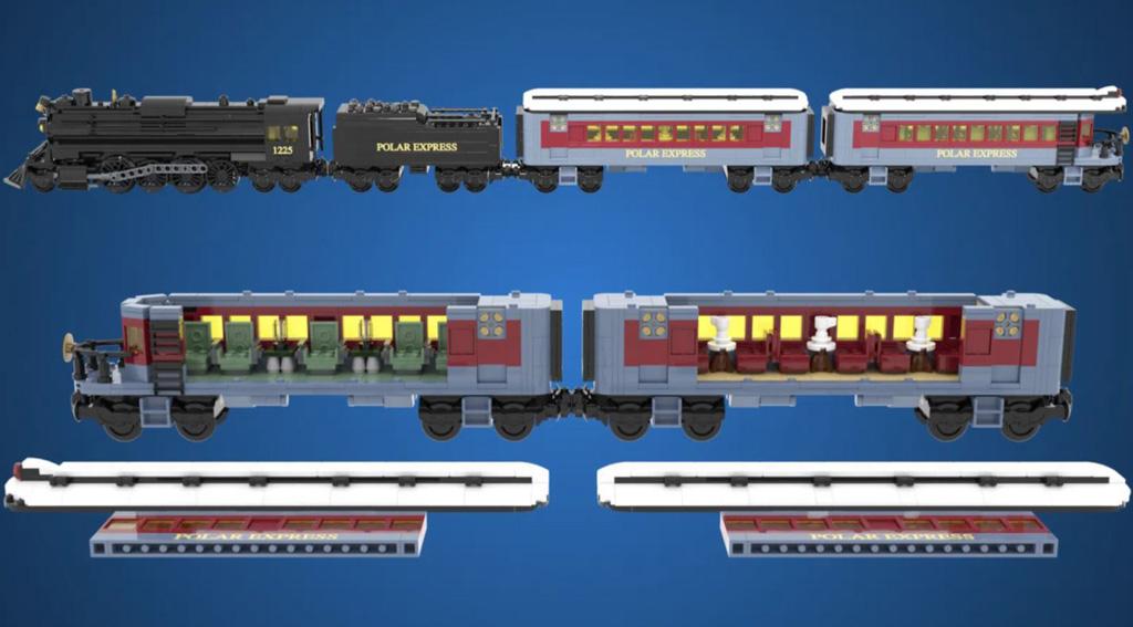 LEGO Ideas Polar Express Entwurf von Minibrick Productions Der Zug