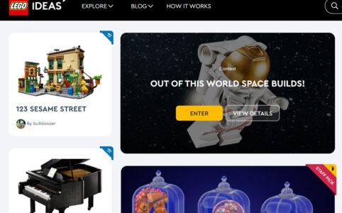 LEGO Ideas Website: Neues Layout