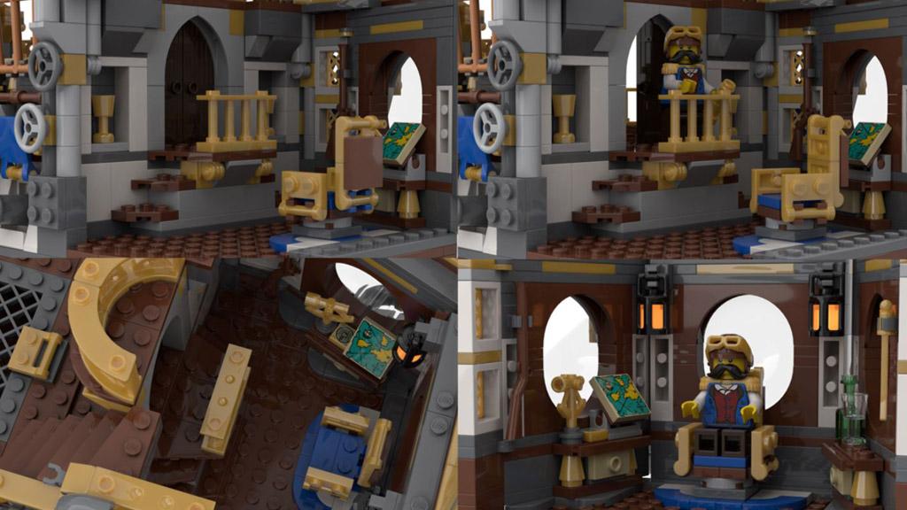 LEGO Ideas Steampunk Airship Entwurf von BrickHammer die Decks