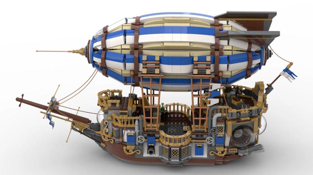 LEGO Ideas Steampunk Airship Entwurf von BrickHammer