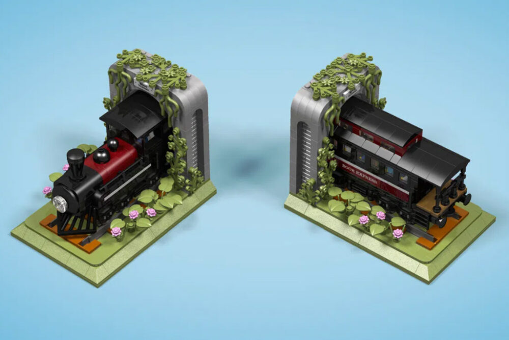 LEGO Ideas Train Bookends