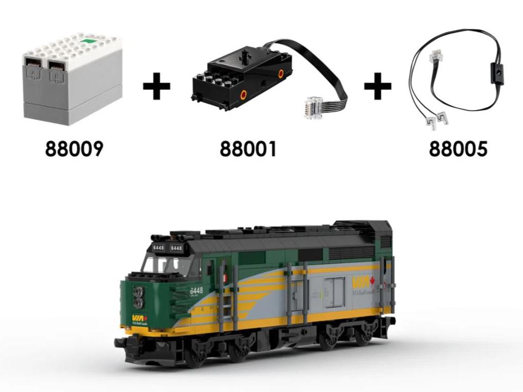 LEGO Ideas Via Rail Canada The Canadian Entwurf von NickLafreniere1 Beste Aussicht aus dem Kuppelwagen Powred up