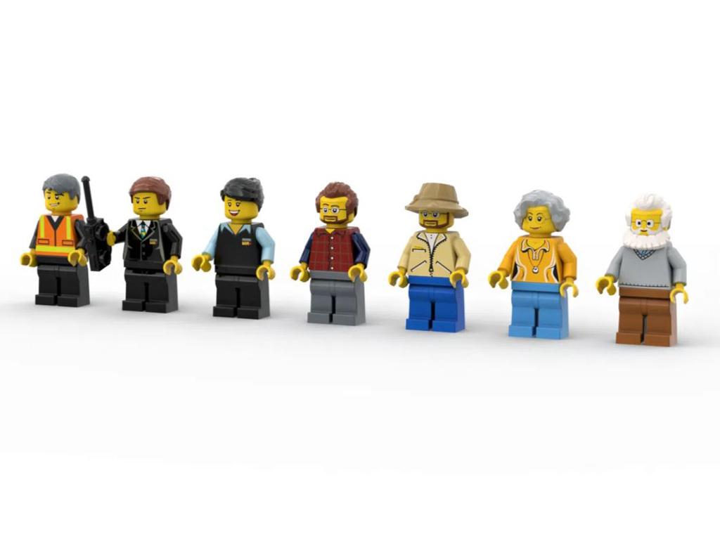 LEGO Ideas Via Rail Canada The Canadian Entwurf von NickLafreniere1 Die Minifiguren
