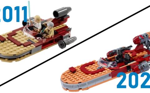 Zwei LEGO Landspeeder im Vergleich