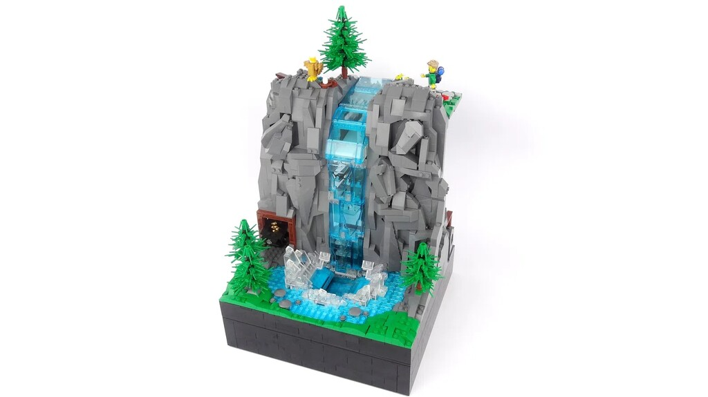BrickLink Designer Program: Working Waterfall