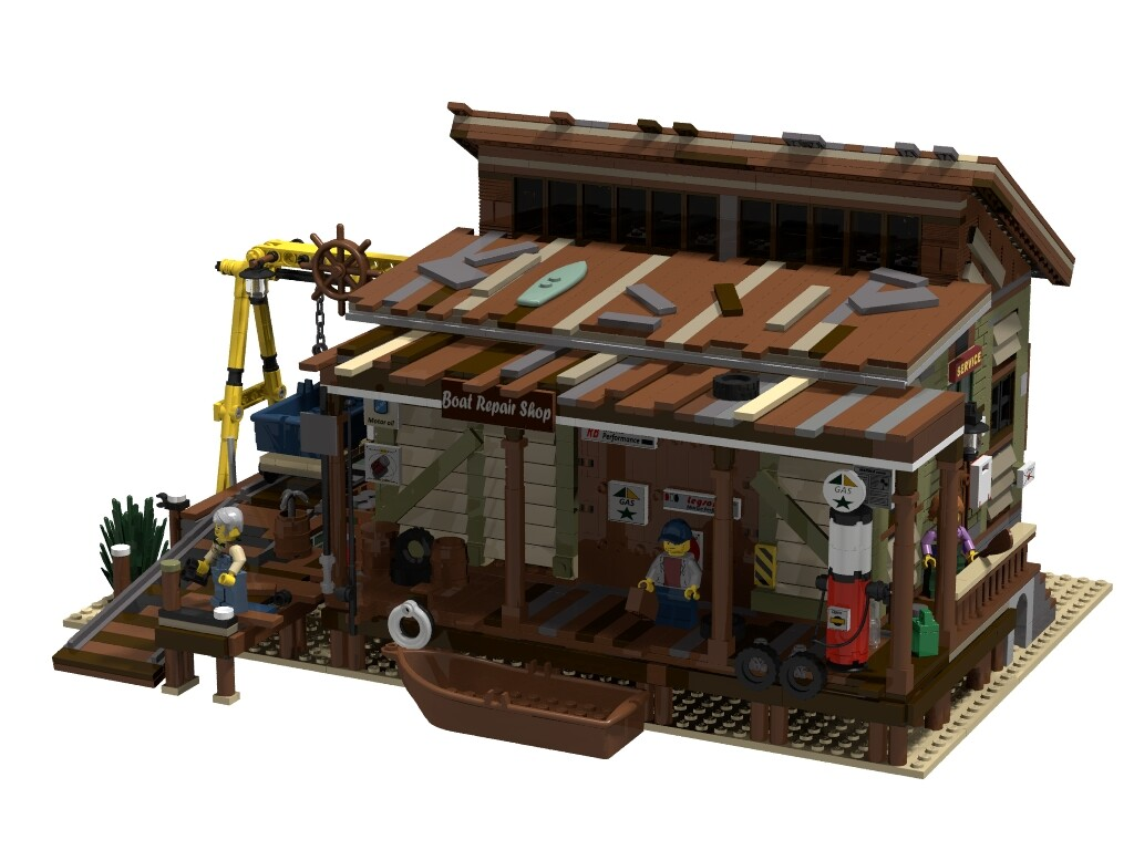 BrickLink Designer Program: Boat Repair Shop