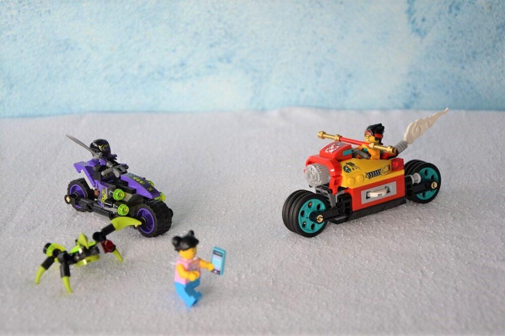 LEGO Monkie Kid's Wolken-Bike: Spinnen auf Motorrädern