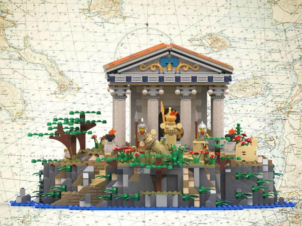 LEGO Ideas Ancient Greek Tempel