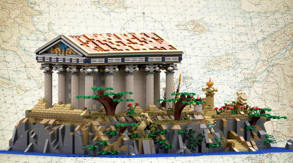 LEGO Ideas Ancient Greek Tempel