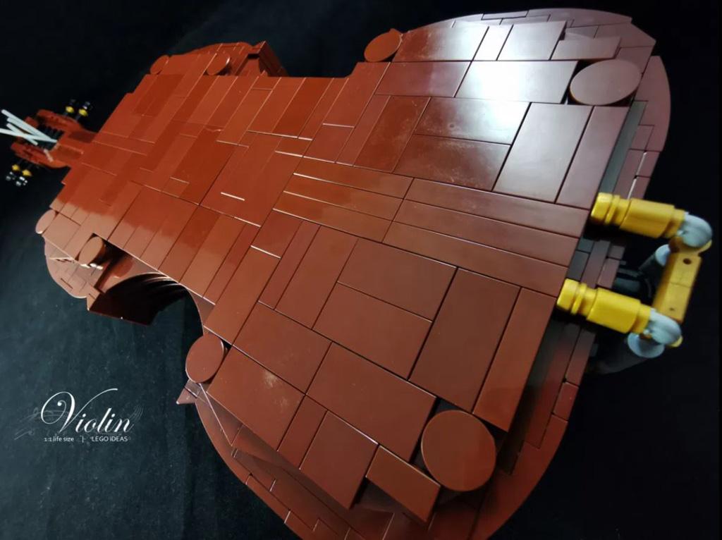 LEGO Ideas Entwurf Violin von Samuel Ho die Rückseite