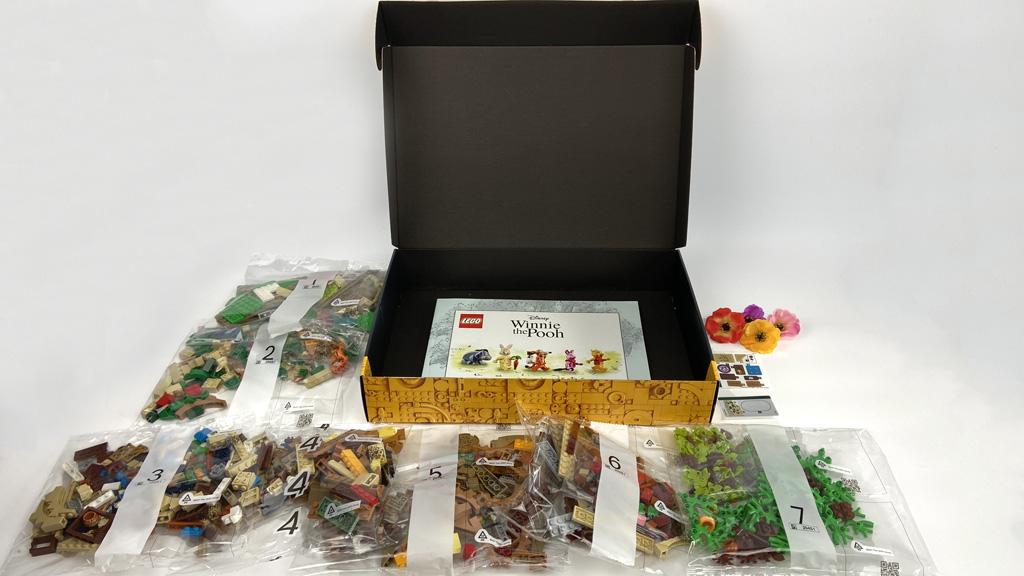 LEGO Ideas 21326 Disney Winnie the Pooh sieben Tüten