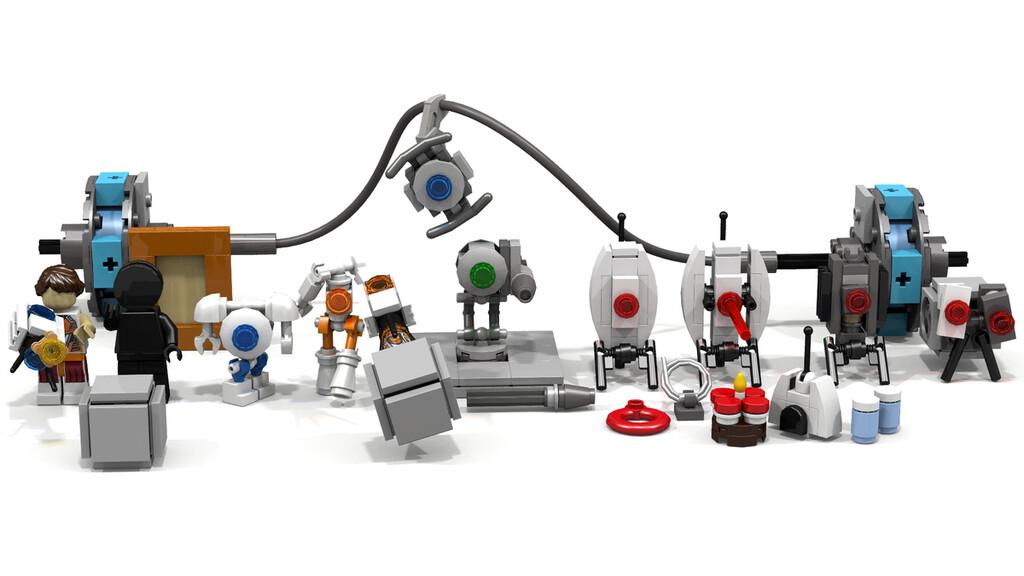 Diverse Charaktere, Figuren und Objekte aus Portal 2