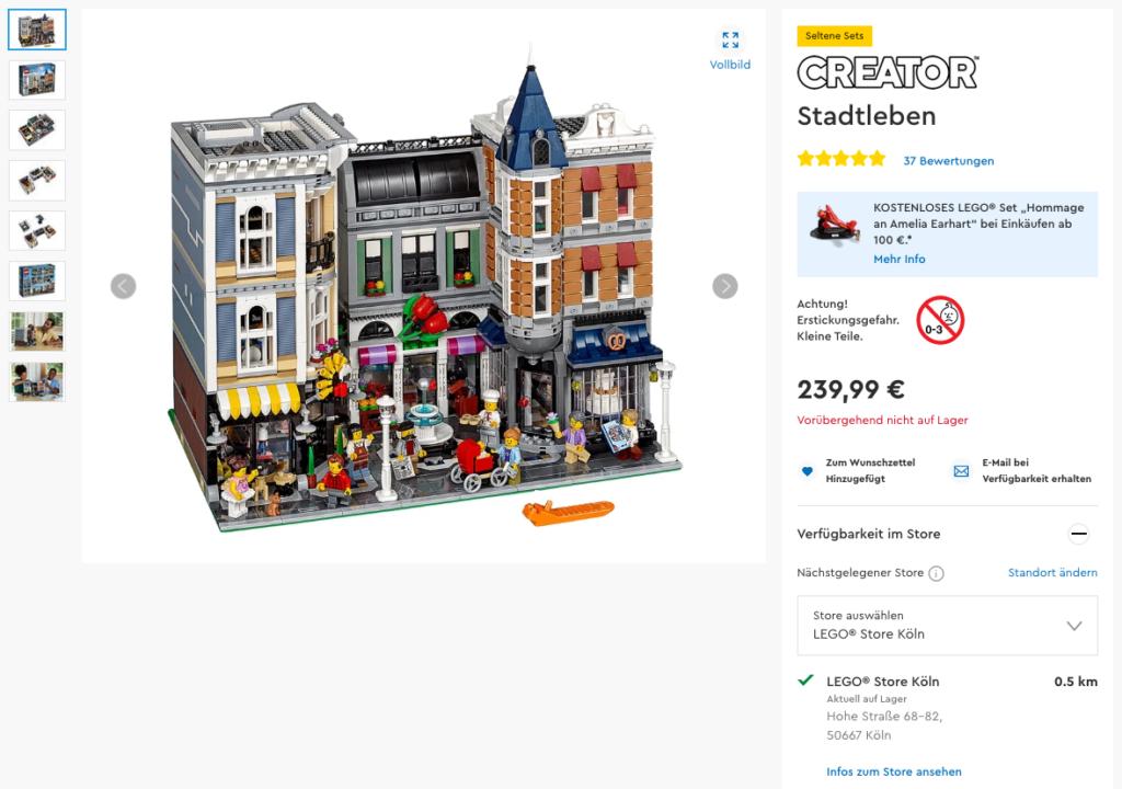 LEGO Creator Expert Stadtleben 10255 im Online Shop - im Kölner Store verfügbar