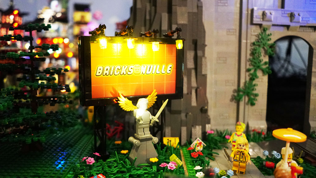 Stadtgespräch Bricksonville das Ortsschild