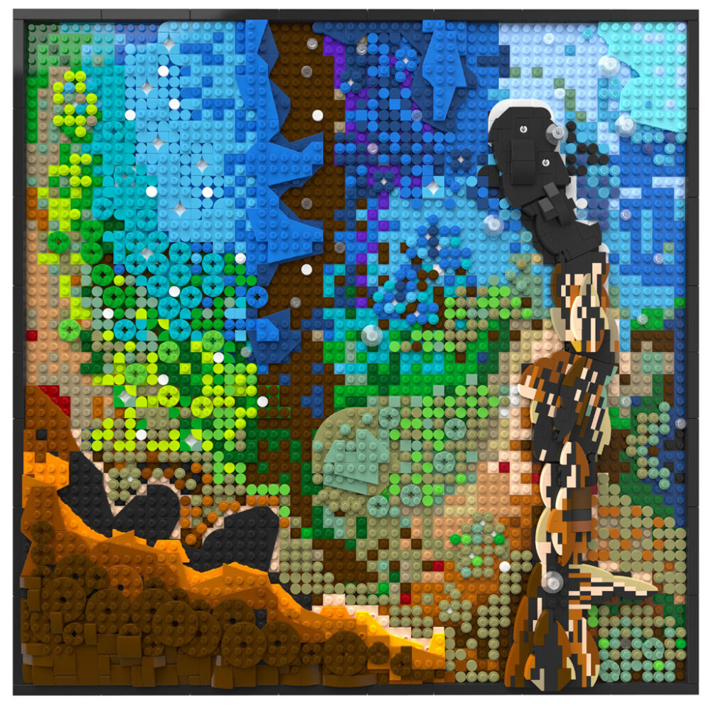 LEGO Hubble-Aufnahme