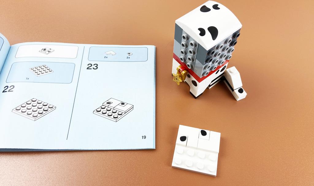LEGO BrickHeadz 40479 Dalamtiner und Welpe und ebenso die SNOT Technik