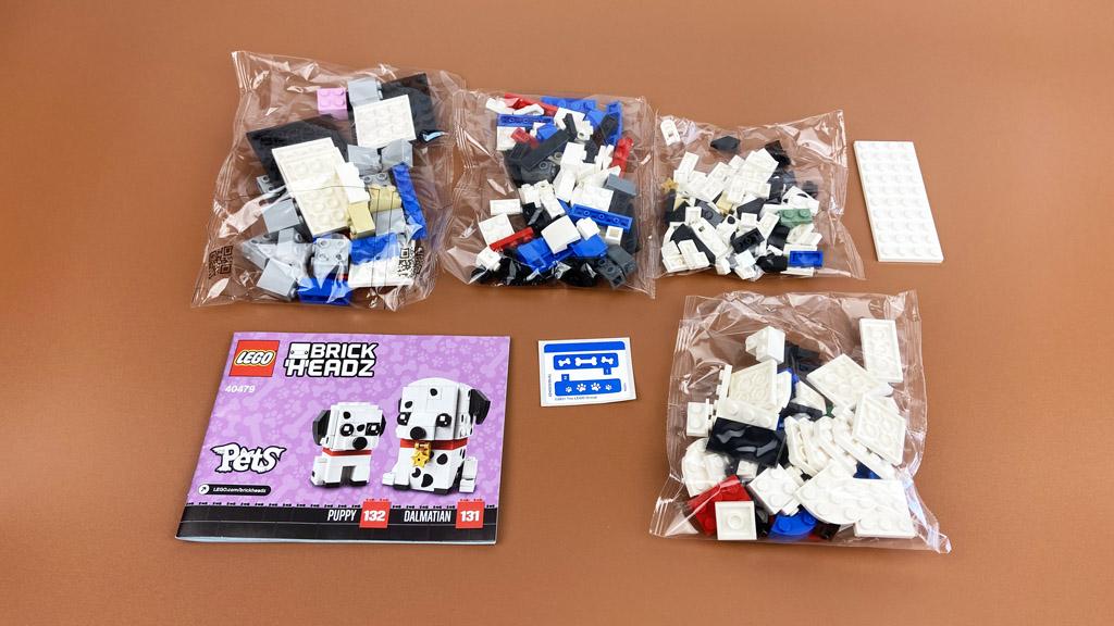 LEGO BrickHeadz 40479 Dalamtiner und Welpe der Inhalt