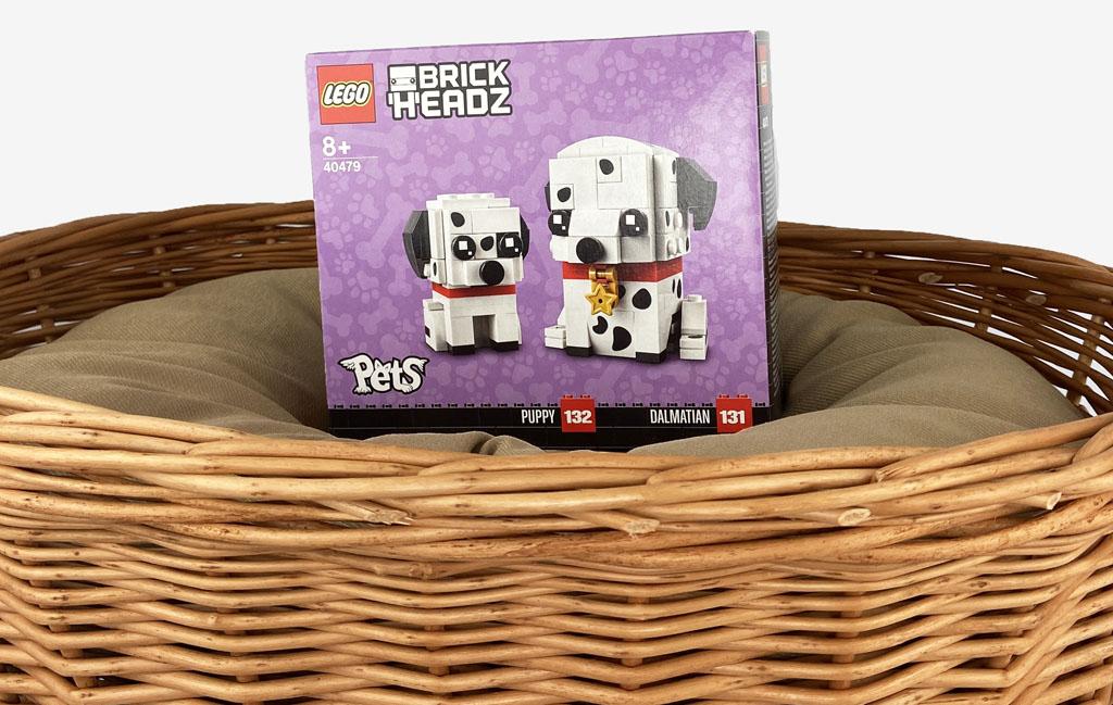 LEGO BrickHeadz 40479 Dalamtiner und Welpe Die Box