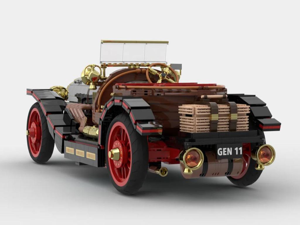 LEGO Ideas Entwurf Chitty Flies Again von Norders die Rückansicht mit Picknickkorb