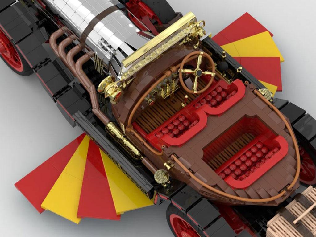 LEGO Ideas Entwurf Chitty Flies Again von Norders der Innenraum