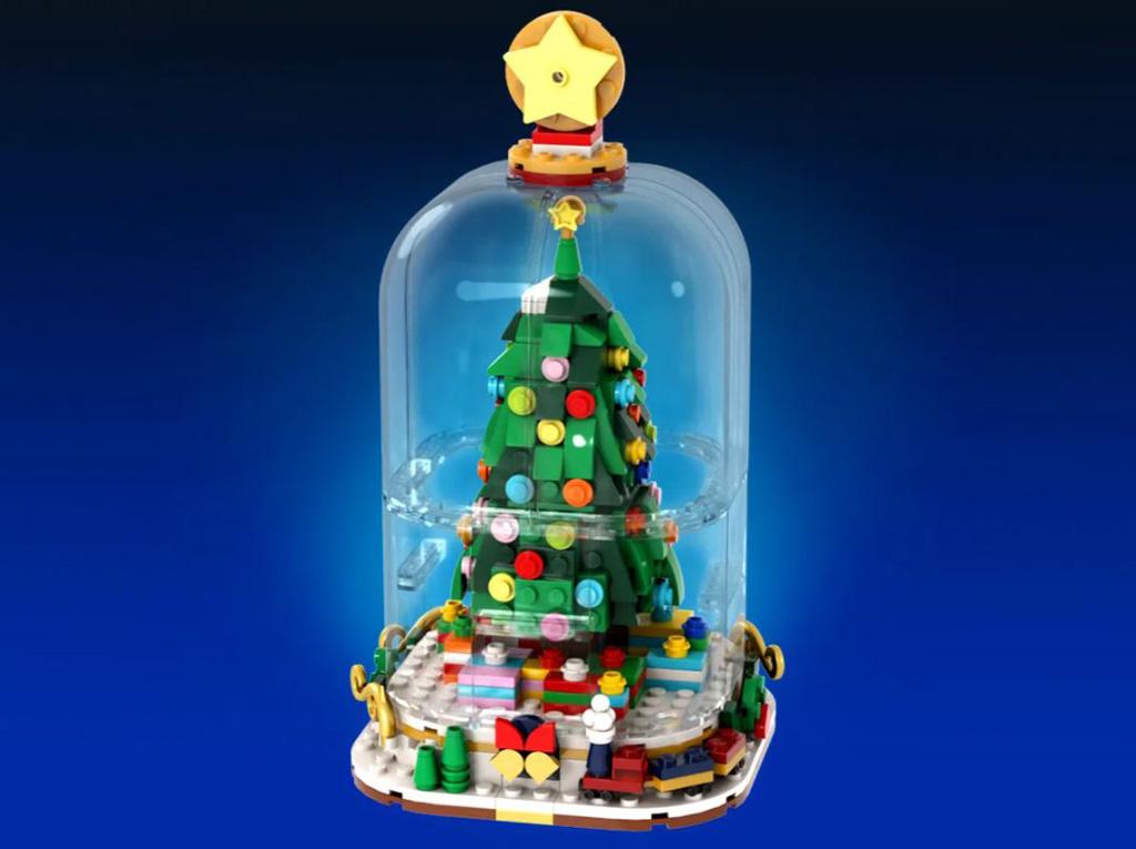 LEGO Ideas Winter Snow Globes der Tannenbaum