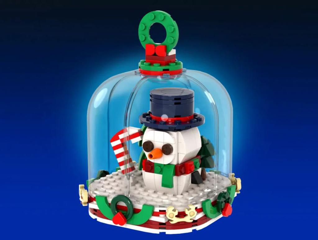 LEGO Ideas Winter Snow Globes der Schneemann