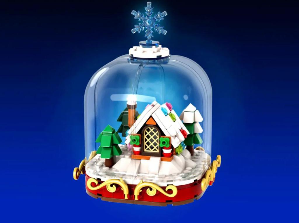 LEGO Ideas Winter Snow Globes das Winterhaus