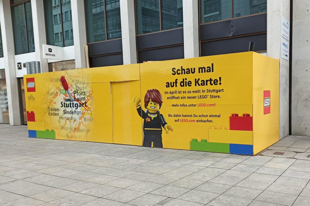 LEGO Store Stuttgart: Bauzaun