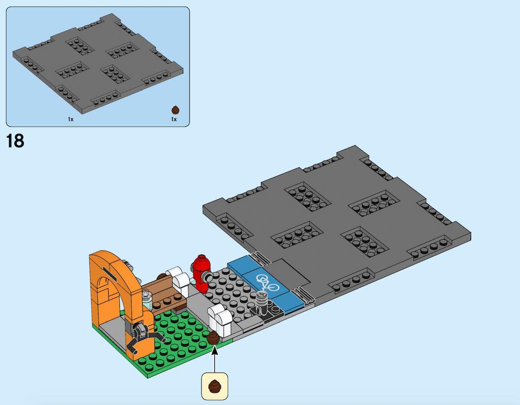 Kothaufen und Straßenplatten innerhalb eines Bauschrittes