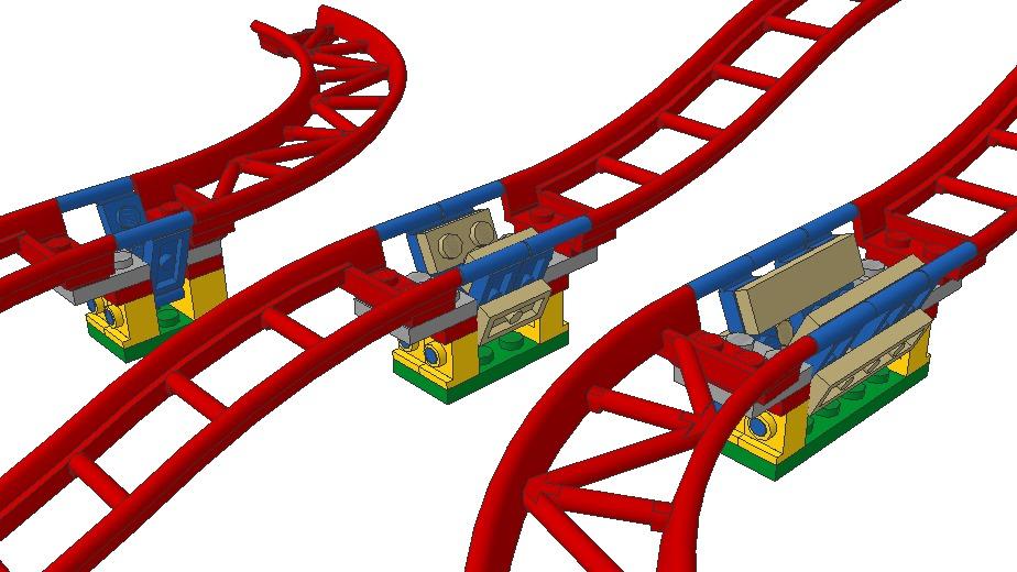 Individuelle LEGO Achterbahnschienen