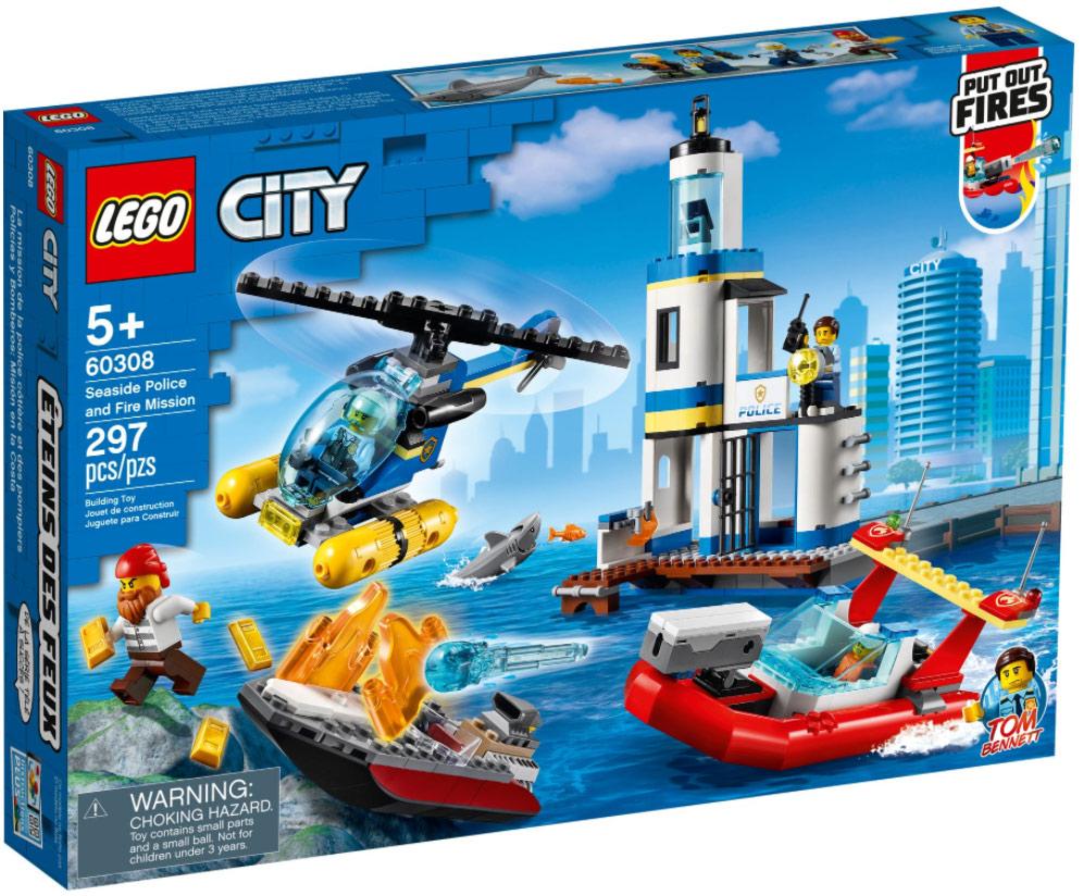 LEGO City 60308 Polizei und Feuerwehr im Küsteneinsatz
