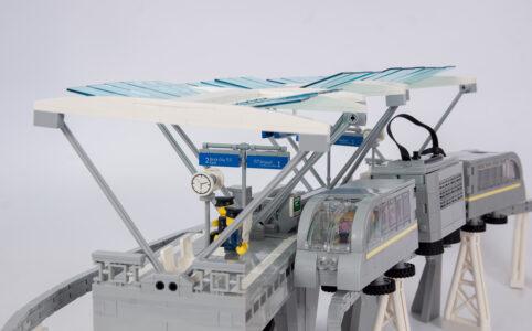 Auf einer Schiene unterwegs: die Monorail